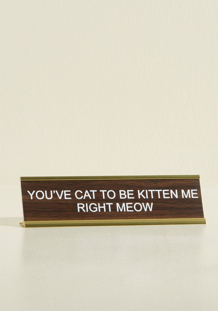 Business in the Font Desk Plaque in Feline, #ModCloth
