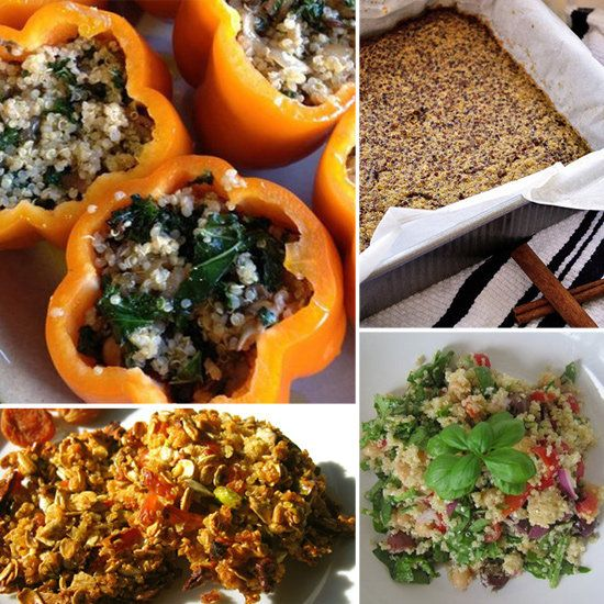 Healthy Quinoa Recipes For Breakfast, Lunch, and Dinner - I didn't check each recipe so please beware there may be some gluten ingredients