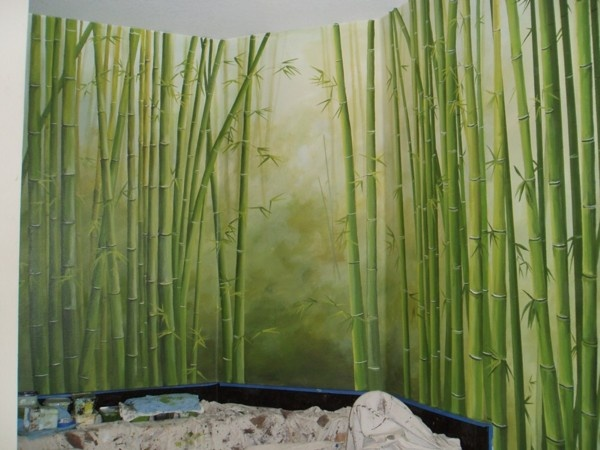awesome bamboo mural idea
