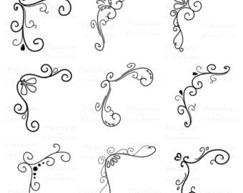 flourish swirls - Google Search