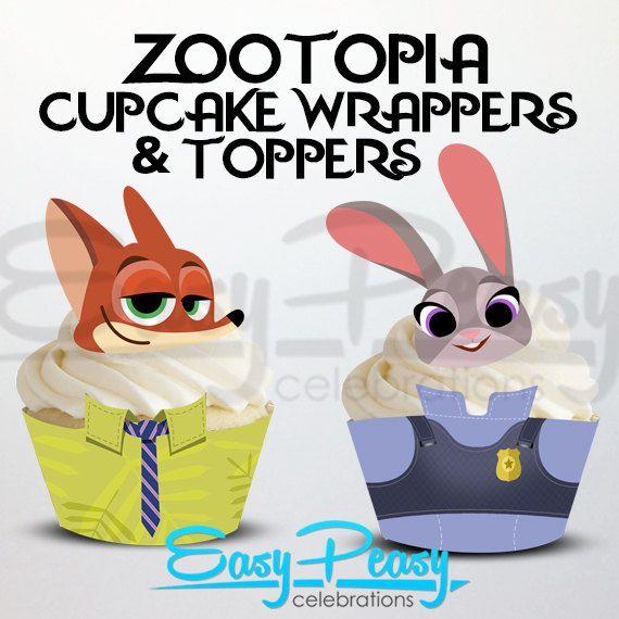 Zootopia (Inspired) Cupcake Set