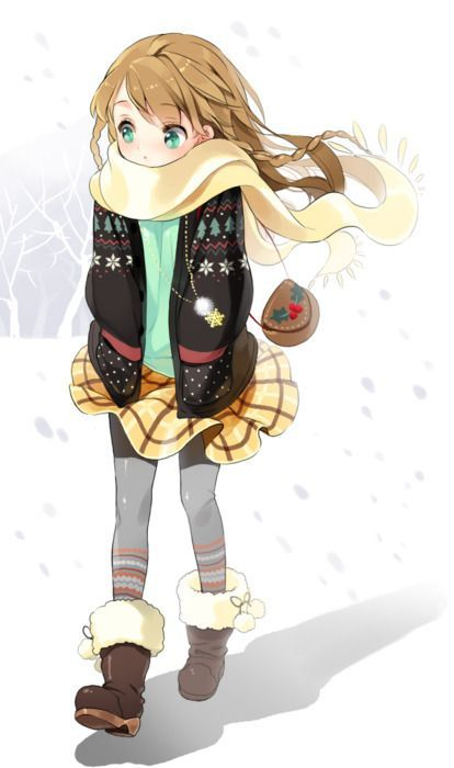 A Little Girl and Her Snowy Day | Anime #Random | Pinterest | Anime Cat crying and Anime scenery