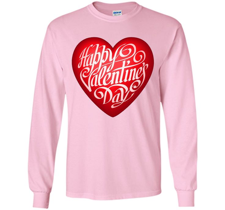 Happy Valentine's Day T-shirt with Big Heart for February 14