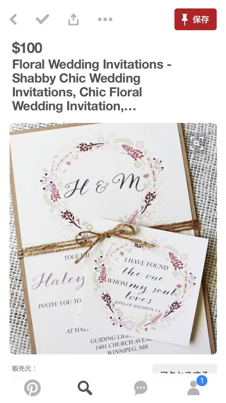 122 best Invitations images on Pinterest | Bridal invitations ...