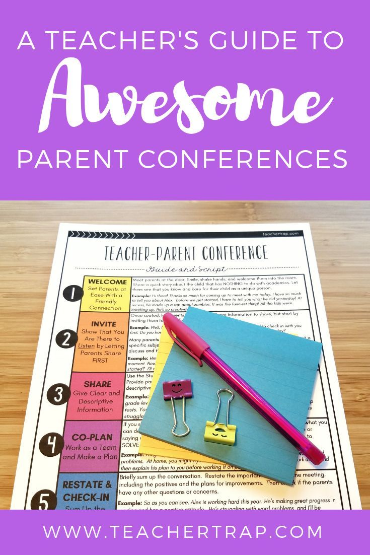 A Teacher's Guide to Awesome Parent Conferences