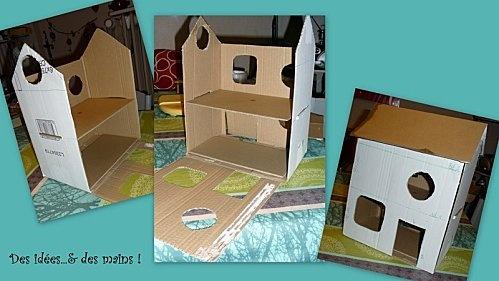 maison en carton pour petshop ou playmobil playmobil pinterest playmobil et articles. Black Bedroom Furniture Sets. Home Design Ideas
