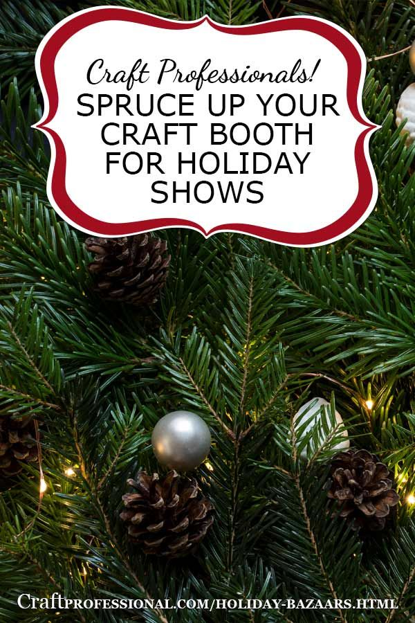 Christmas craft booth photos - http://www.craftprofessional.com/holiday-bazaars.html