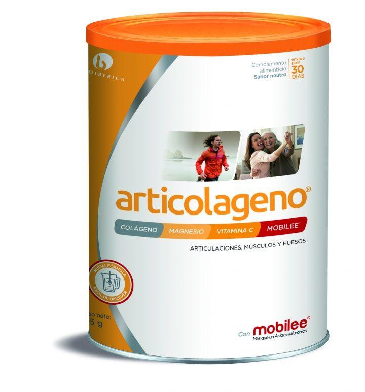 Complemento alimenticio innovador a base de colágeno,magnesio, vitamina C y Mobilee®para articulaciones, músculo y huesos