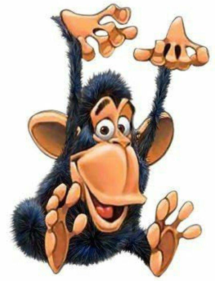 прикольные рисунки с обезьянами она находится