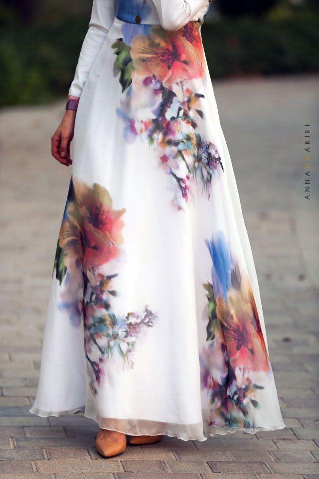 Silk Flower DRESS by ANNAH HARIRI back ins tock