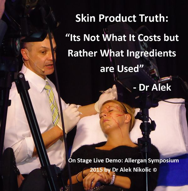 It really is not how much a skin product costs that determines its benefits or effects. What does matter is what ingredients are used in the product.