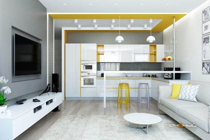 Серая кухня - Студия дизайна Антона Печёного