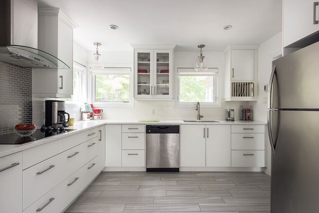 This Kitchen Was Overhauled With All New Cabinets And Counter New Cabinet Kitchen Kitchen Cabinets