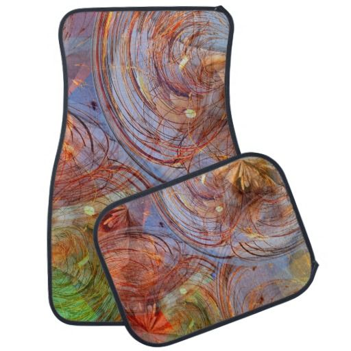 Pretty Abstract Floral Car Mat