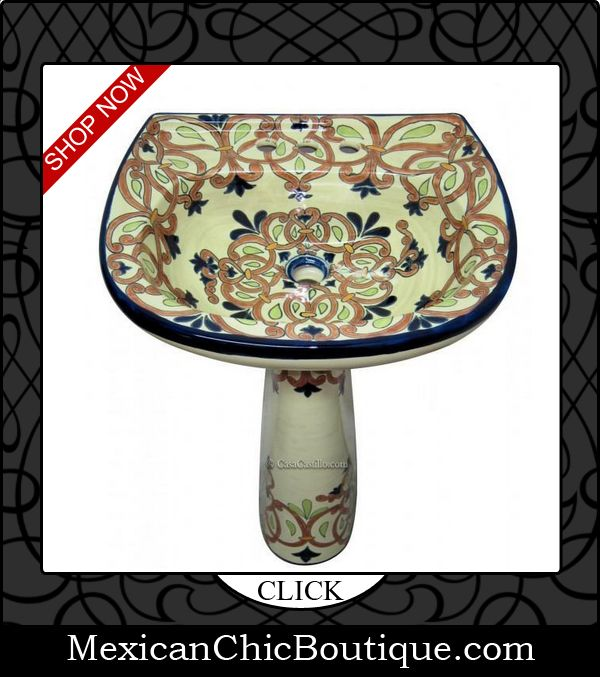 Lovely Hand Painted Sinks   Mexican Handpainted Sinks   Mexican Decorations    Mexican Decor   Mexican Art
