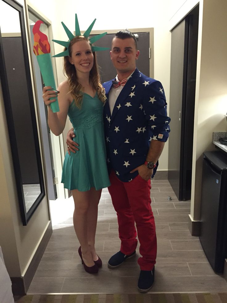 Lady Liberty and Uncle Sam Halloween couple costume