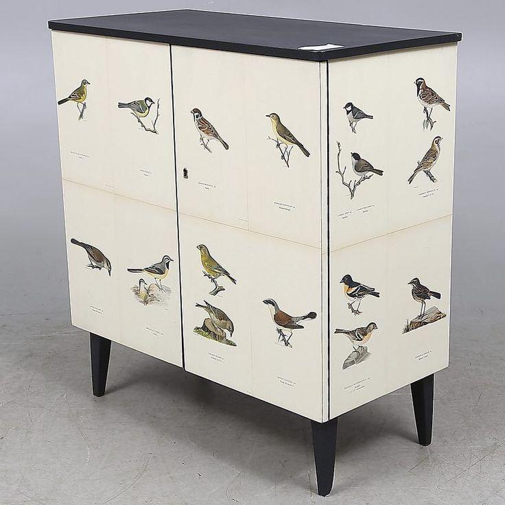 #dresser made by #butterflyvintage #forsale at #auctionet @auctionet #vonWright #svenskafåglar #birds of #sweden