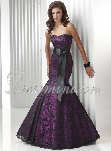 long purple mermaid prom dress | Dressmini > Prom Dresses > Purple Mermaid/Trumpet Long/Floor-length ...