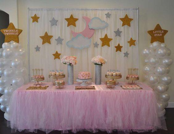 Twinkle twinkle little star Baby shower pink/blue