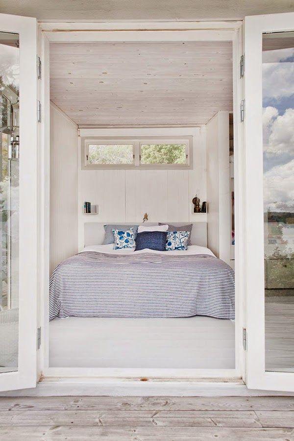 Esta primavera se lleva el azul. Una bonita idea para decorar el dormitorio. #decoración