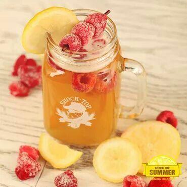 Shock Top + frozen raspberries = Refreshment!
