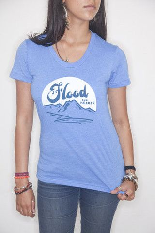 Lake Blue Flood our Hearts T-Shirt #causeshirts