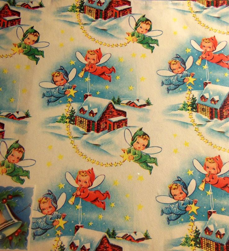 647 best vintage christmas wrapping paper images on for Best christmas wrapping paper