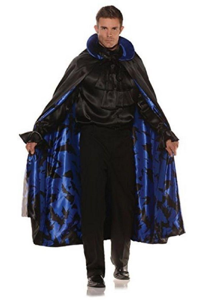 Underwraps Adult Satin Bat Vampire Cape Halloween Costume Piece