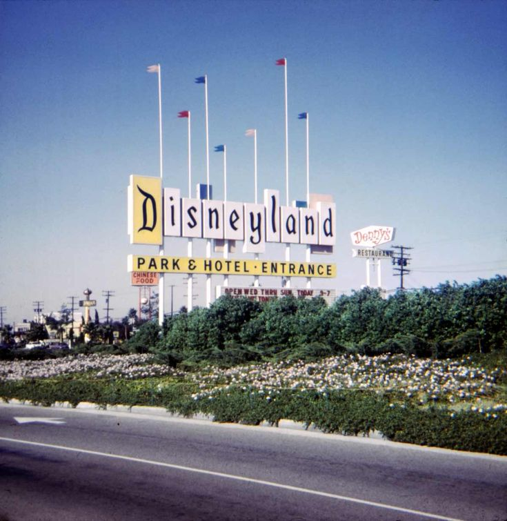 The original 1955 Disneyland sign..When I was little, nothing was more beautiful (spotted from a few miles away)!
