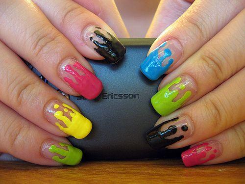 Daily Nail Art: Paint Dripped Nails | Blog | FlauntMe