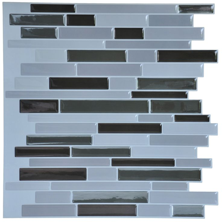 A17018 - Self Adhesive Wall Tiles 11.2in x 12in Peel and Stick Backsplash 10 Pcs 9.5Sq.ft