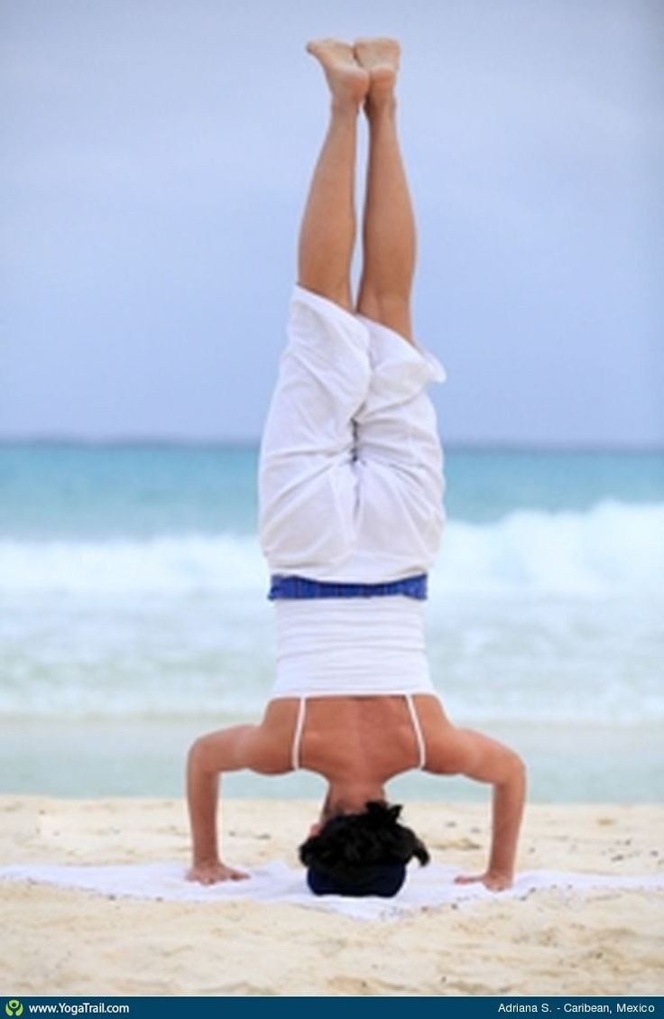 """#Yoga Poses Around the World: """"Headstand taken in Caribean, Mexico by Adriana S."""""""