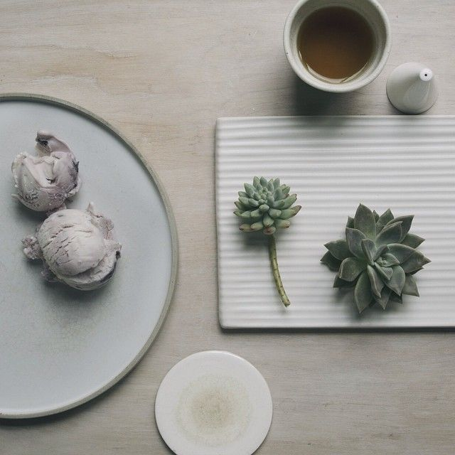 «What's better than mochi ice cream and hot tea #whpicecream»