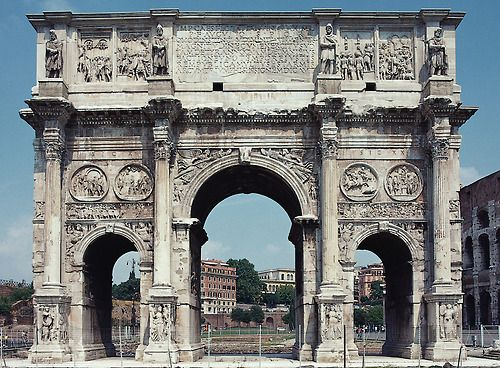 Arch of Constantine, Rome, Italy, 312–315 CE (south side).