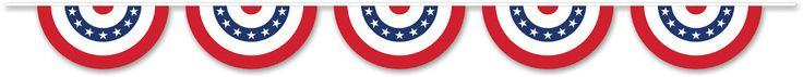 patriotic bunting banner Case of 6