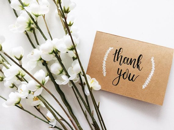 Simple elegant thank you cards for any occasion  Birthdays