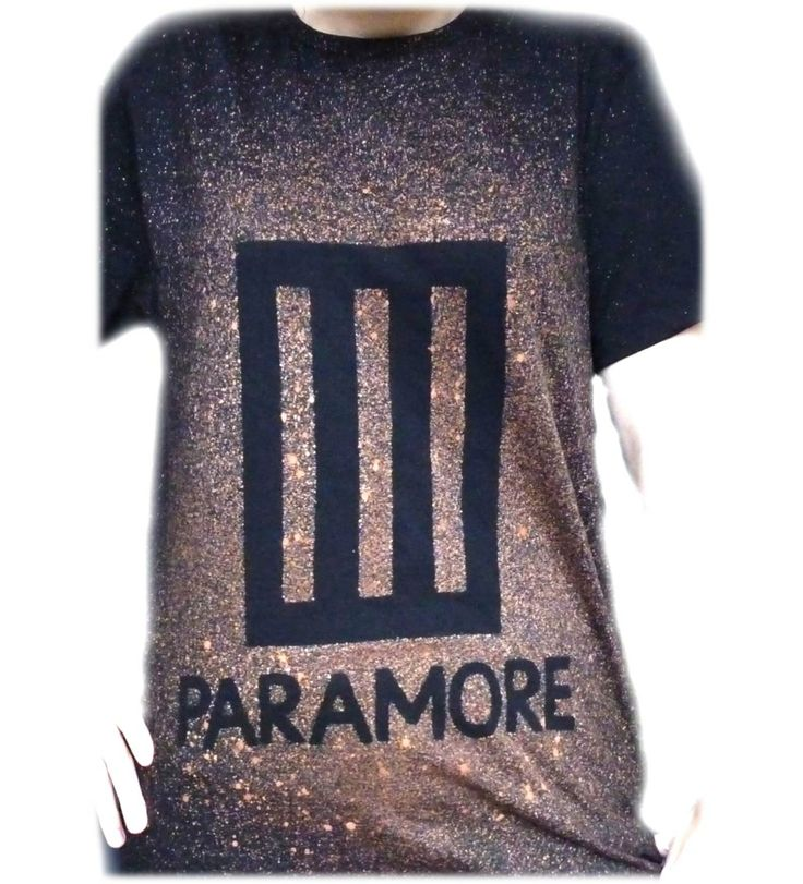IN STOCK NOW Paramore Bleach TShirt by SimplyStencilled on Etsy, £8.00