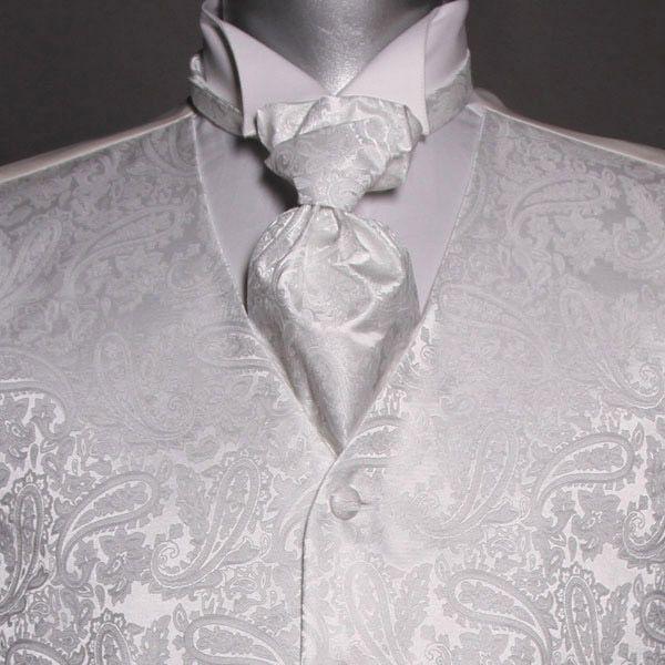 Seremonivest med tilbehør i hvit
