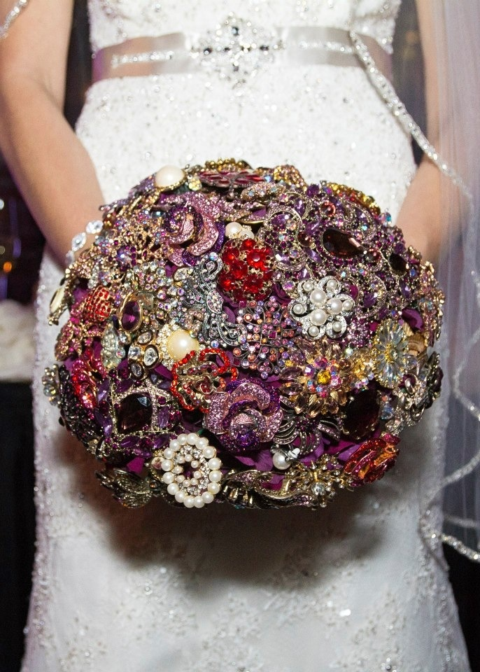 127 best Here Comes The Bling Vintage Jewelry Bouquets images on