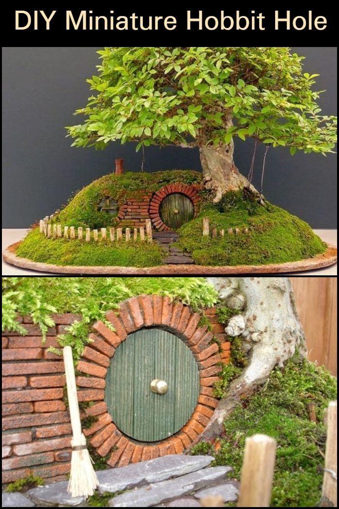 Diy Miniature Hobbit Hole Fairy Garden Bedroom Fairy Garden Diy Miniature Fairy Gardens