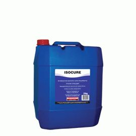 ISOCURE: Paraffin - based, water emulsion for protecting fresh concrete from quick evaporation of mixing water. It ensures the full hydration of cement, thus it reduces any drying shrinkage cracks. It is usually applied on large surfaces of exposed concrete such as industrial floorings, parking areas, concrete slabs etc. In case of subsequent layers on the concrete surface, ISOCURE must be removed by water blasting.