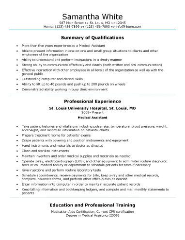 Best 25+ Medical assistant resume ideas on Pinterest Medical - medical assitant resume