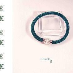 Bracciale moda in lurex con swarovski elements