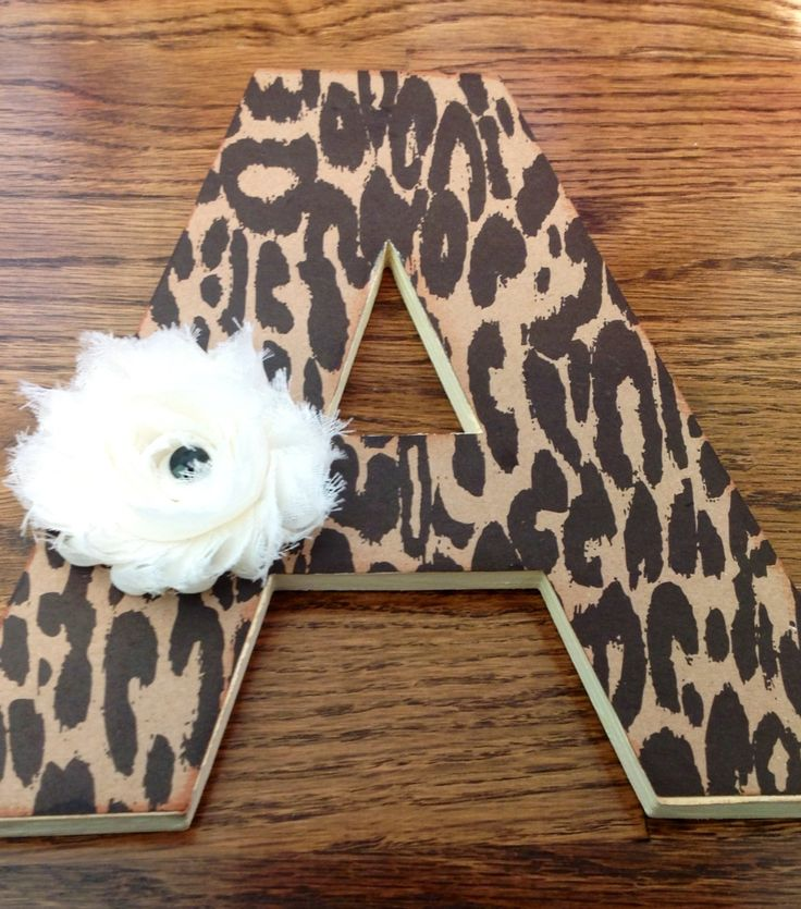 Personalized Letter Nursery cheetah leopard print by SDKCreations, $12.00