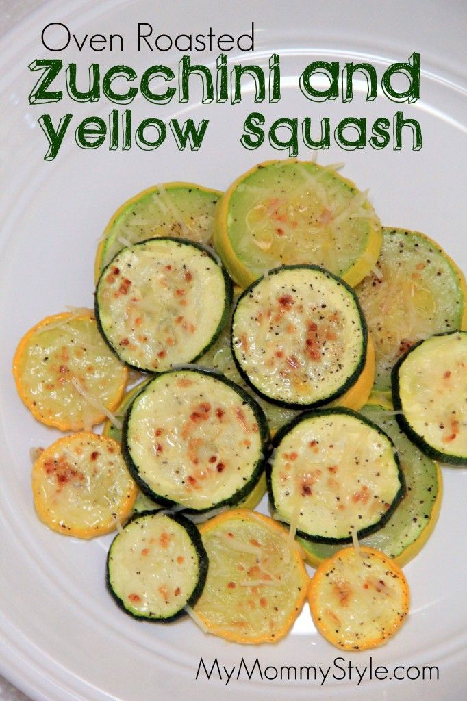 Oven Roasted Zucchini and Yellow Squash   I didn't use a recipe, but I recently made this for myself and served it with marinara. So, so good.