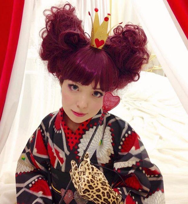 おやすみなさいまし💟 ハートの女王👑 Produced by Dali  #alice #aliceinwonderland #dali #dalihairdesign #photo #photography #kimono #きもの #キモノ #着物 #アリス #不思議の国のアリス #アリスインワンダーランド #ハートの女王 #aliceinwonderlandハートの女王