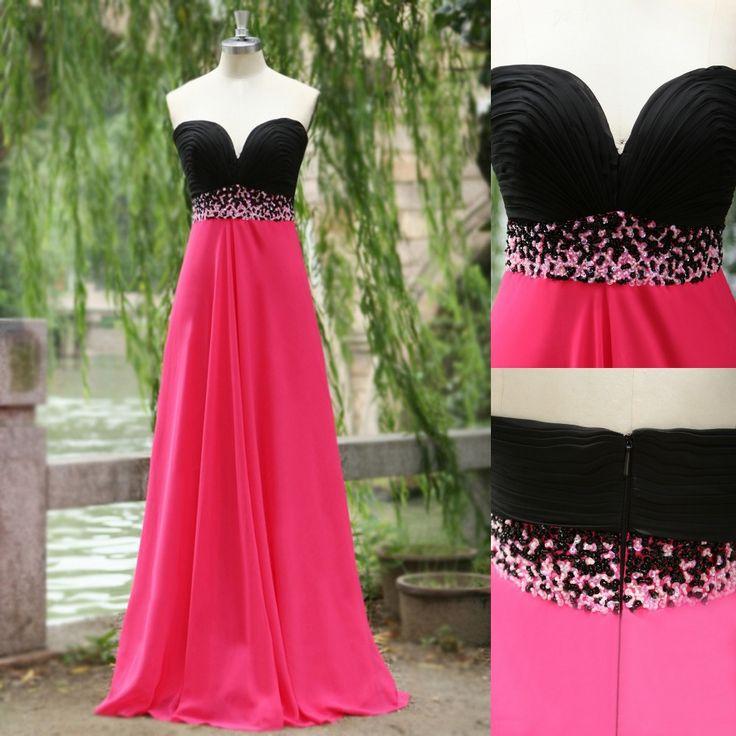 Vestidos 2017 Pink And Black Bridesmaid Dress For Wedding Prom Maxi Women With Marrero Mcgough Bridesmaids Pinterest