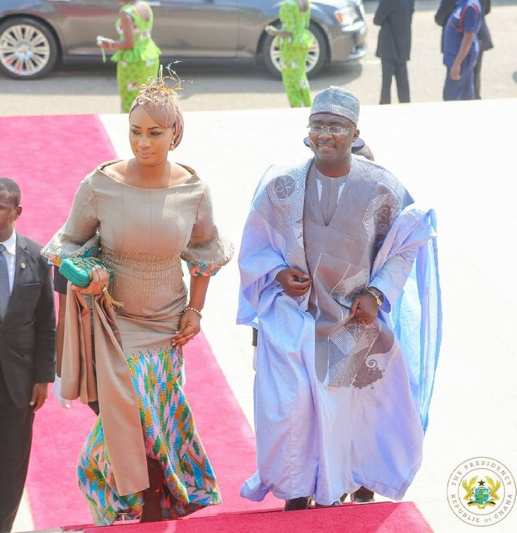 Mr and Mrs Bawumia at the 60th Independence day parade, African fashion, Ankara, kitenge, African women dresses, African prints, African men's fashion, Nigerian style, Ghanaian fashion, ntoma, kente styles, African fashion dresses