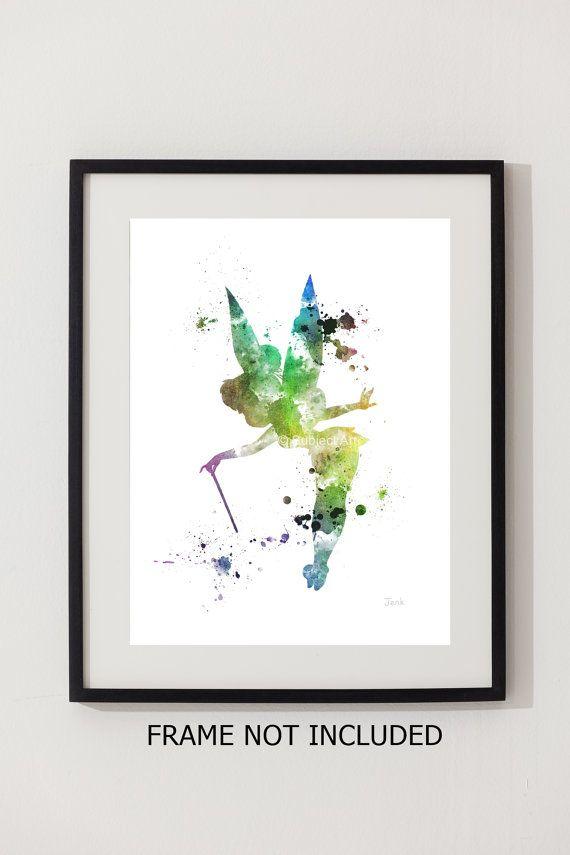 Tinker Bell fée illustration impression dART de Peter Pan