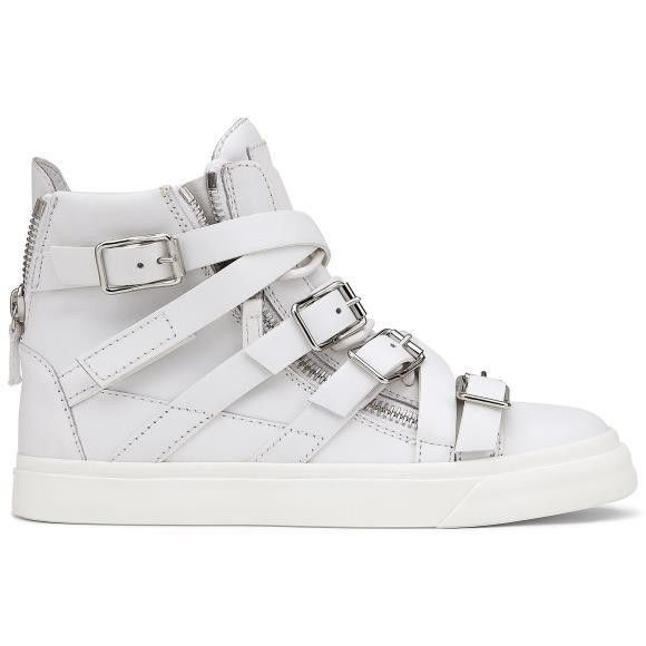 Genuine Leather high top sneakers women